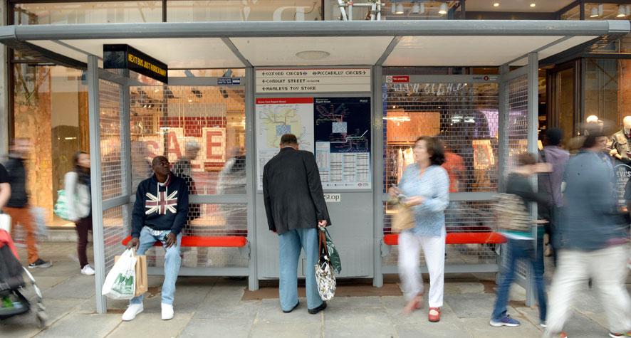 Lego Bus Stop, Regents Street