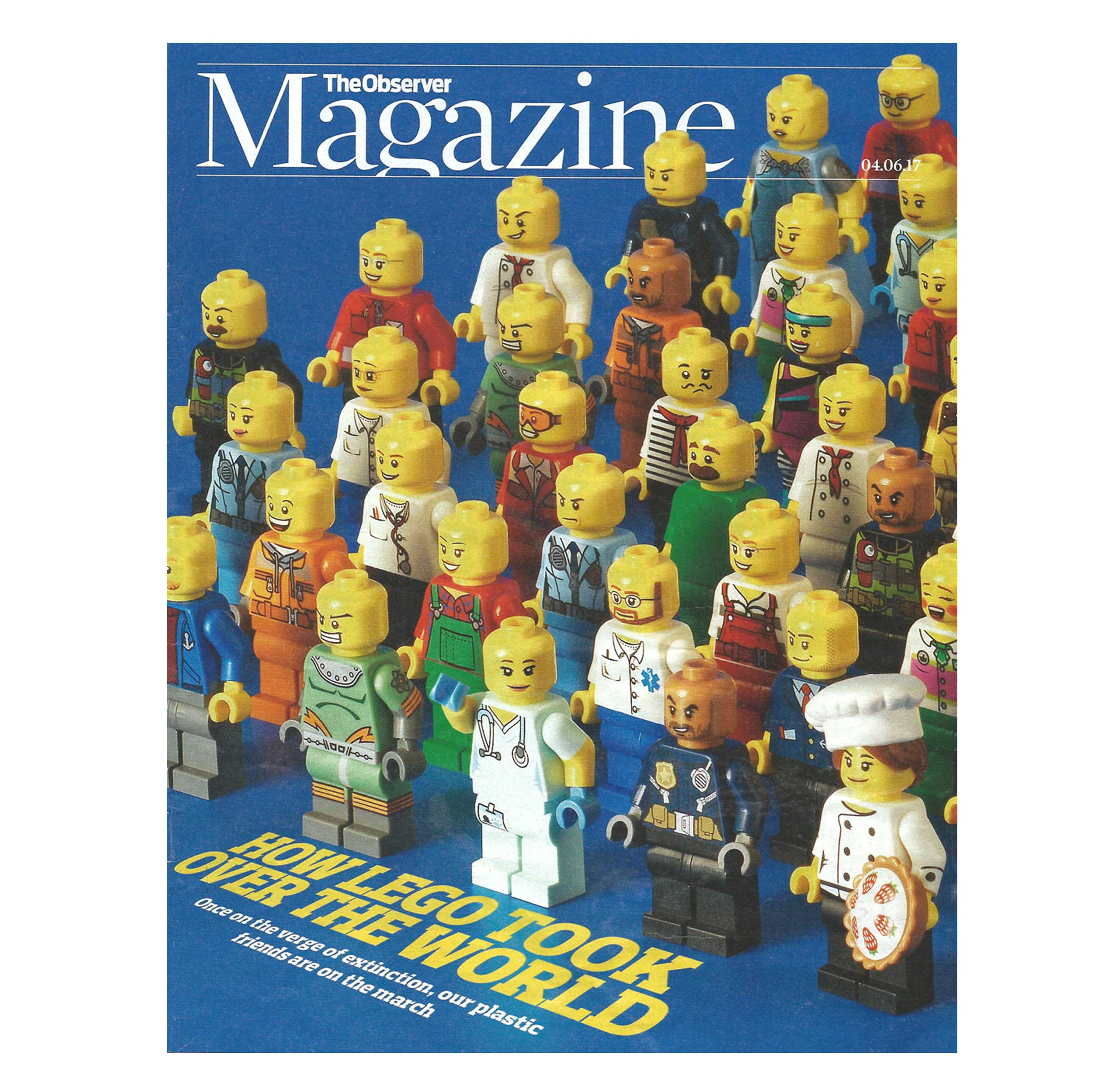 A six-page feature on the LEGO brand in The Observer Magazine